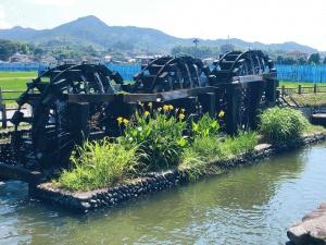 朝倉三連水車(福岡県朝倉市菱野)